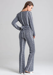Unique 21 Aztec Print Flared Jumpsuit