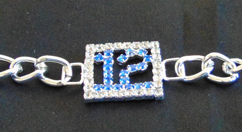 THE PERFECT GIFT FOR YOUR 12TH WOMAN  BLUE FRIDAY BLING BRACELET