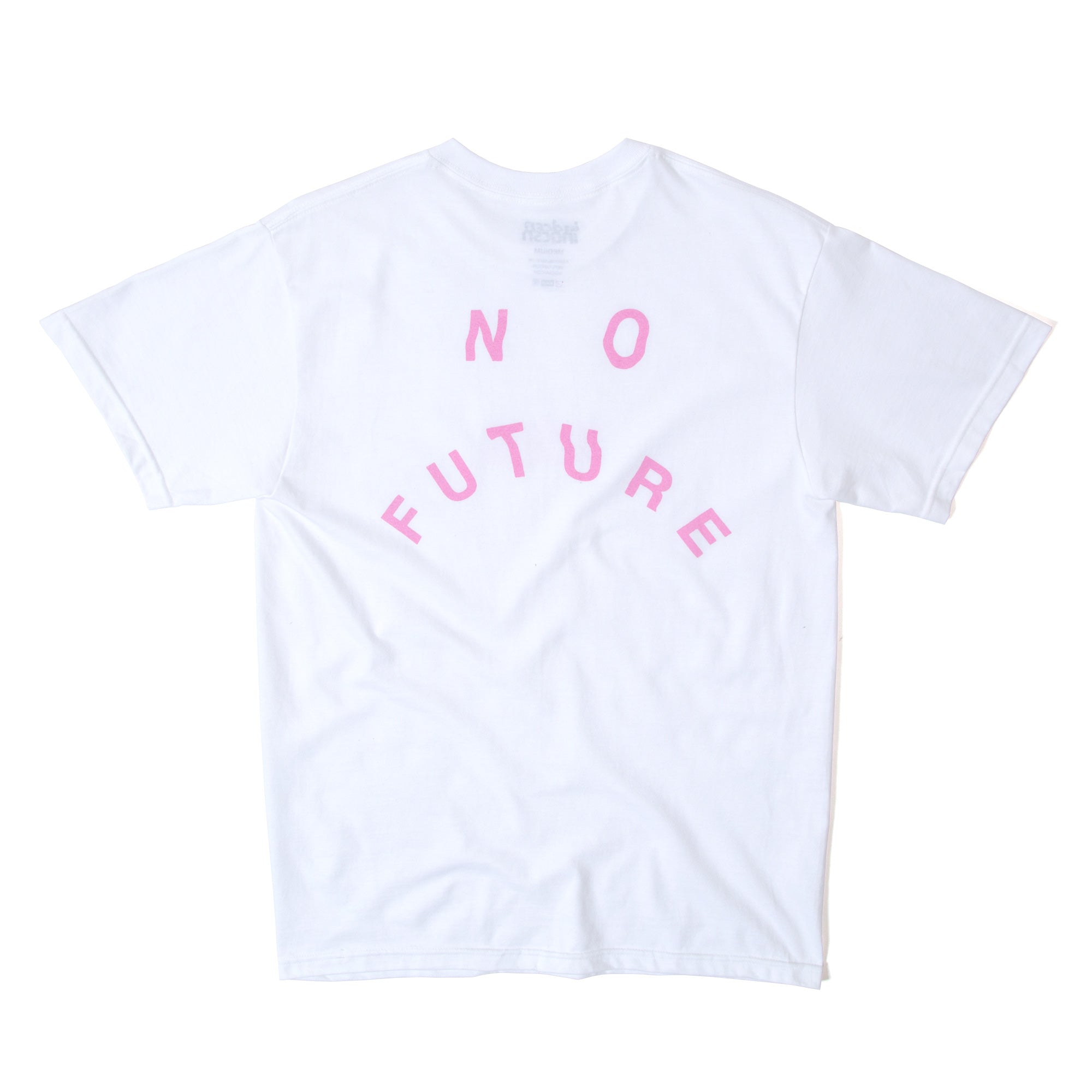 No Future Distort Tee - White/Pink