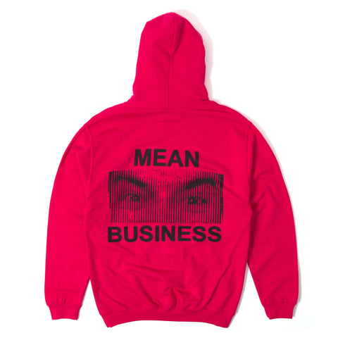 Mean Business Pullover Hoody - Coral