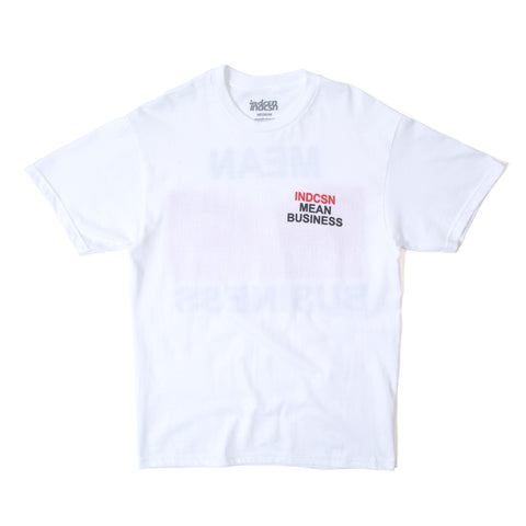 Mean Business T Shirt - White