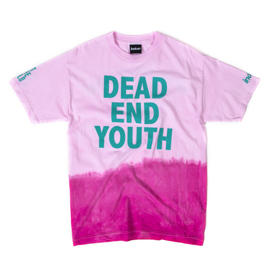 indcsn x Lost In The World Dead End Youth T Shirt - Pink Wash