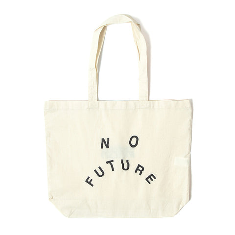 No Future Distort Tote Bag - Natural