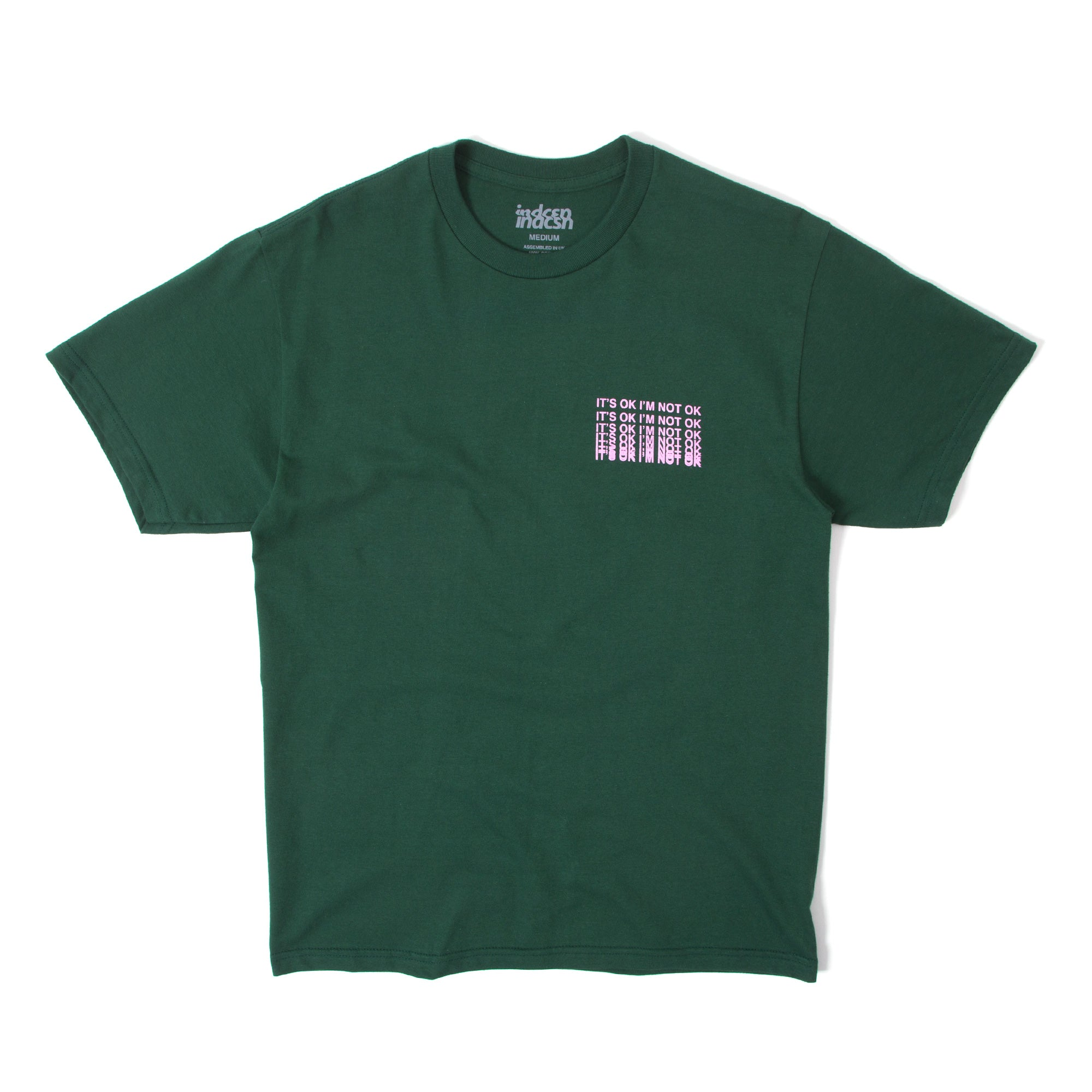 It's Ok T Shirt - Sport Dark Green