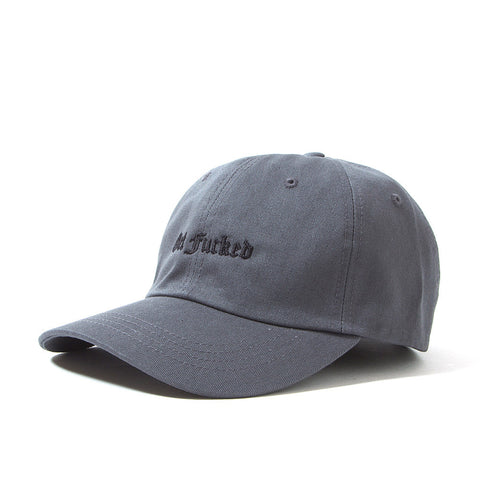 Get Fucked 6 Panel Polo Cap - Dark Grey