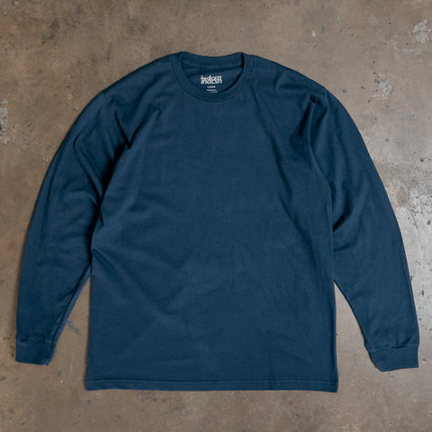 Basic Long Sleeve T Shirt - Navy