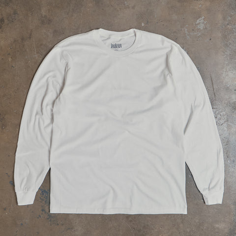 Basic Long Sleeve T Shirt - White