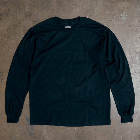 Basic Long Sleeve T Shirt - Black