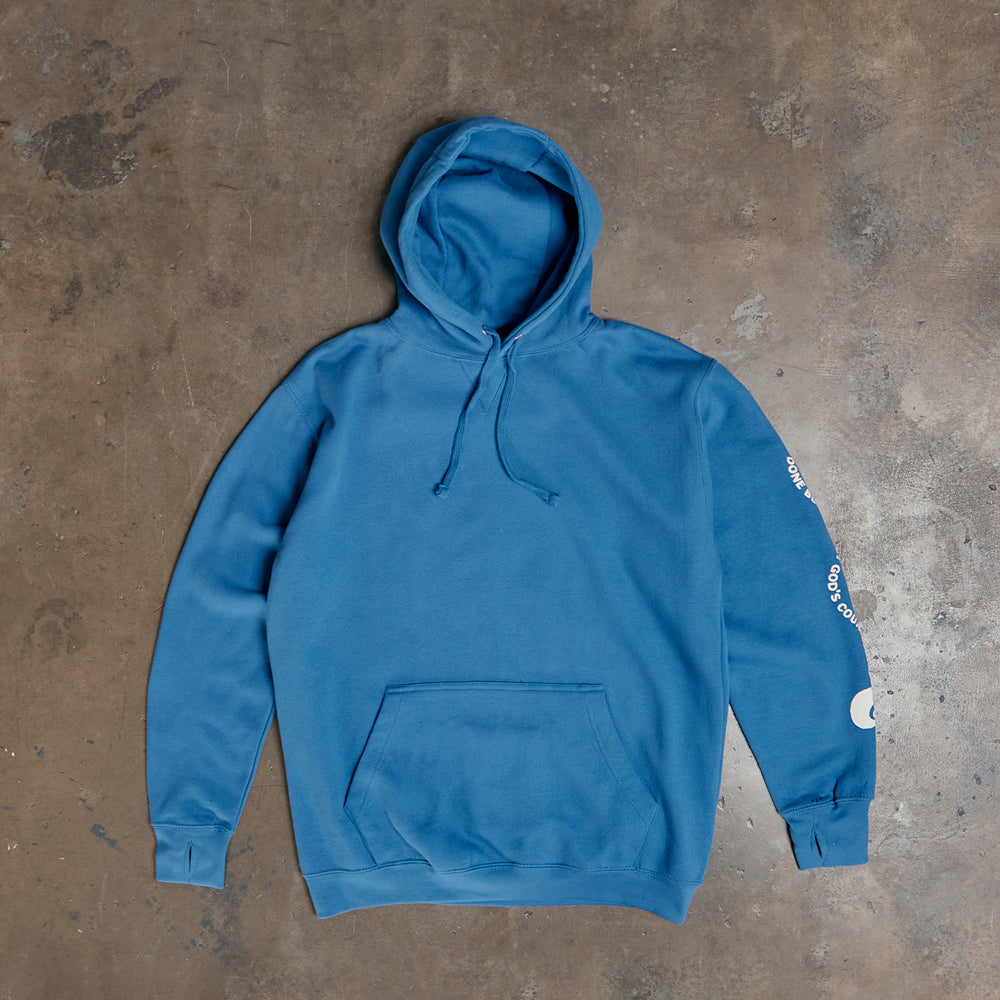 White Rose Mob Pullover Hoody - Royal