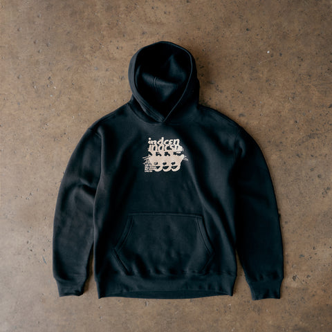 Live On Pullover Hoody - Black