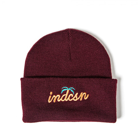Happy Hour Beanie - Burgundy