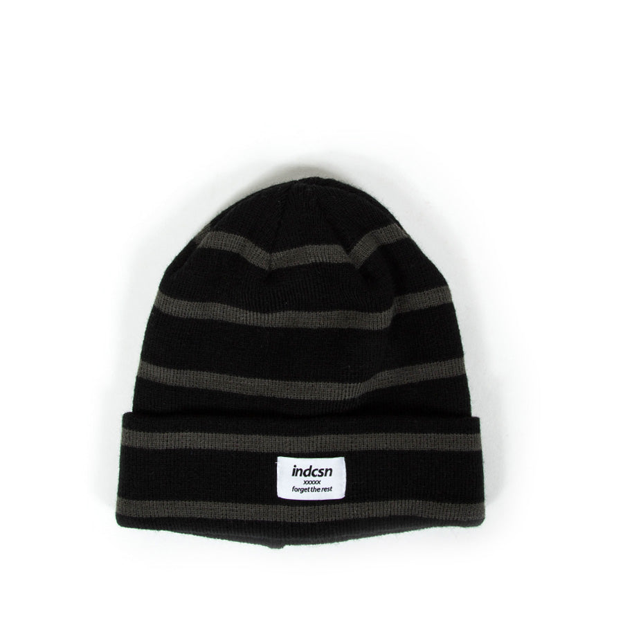 Forget The Rest Stripe Beanie - Black/Grey