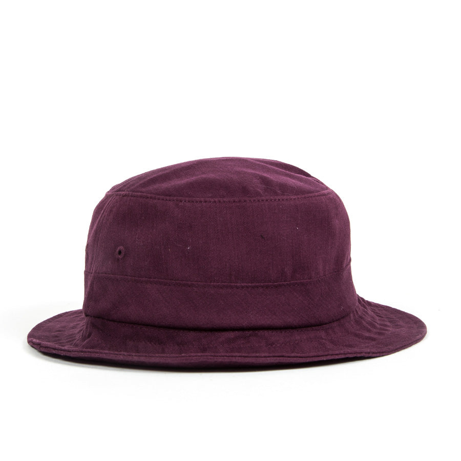 4893c7a397689 Distressed Script Bucket Hat - Burgundy – indcsn