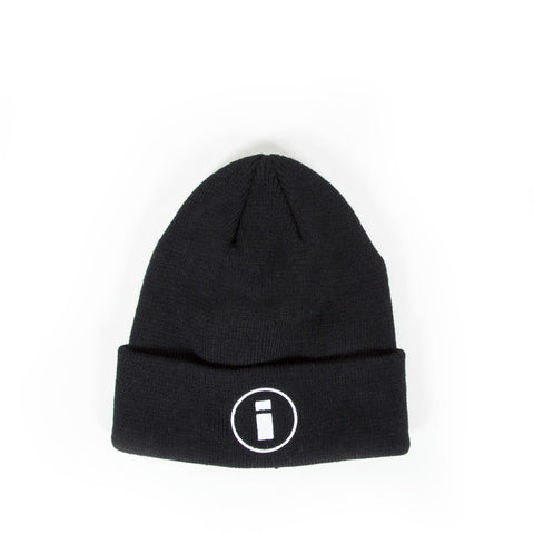 Circle Logo Beanie - Black