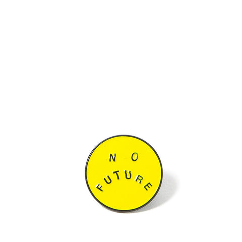 No Future Pin Badge - Yellow
