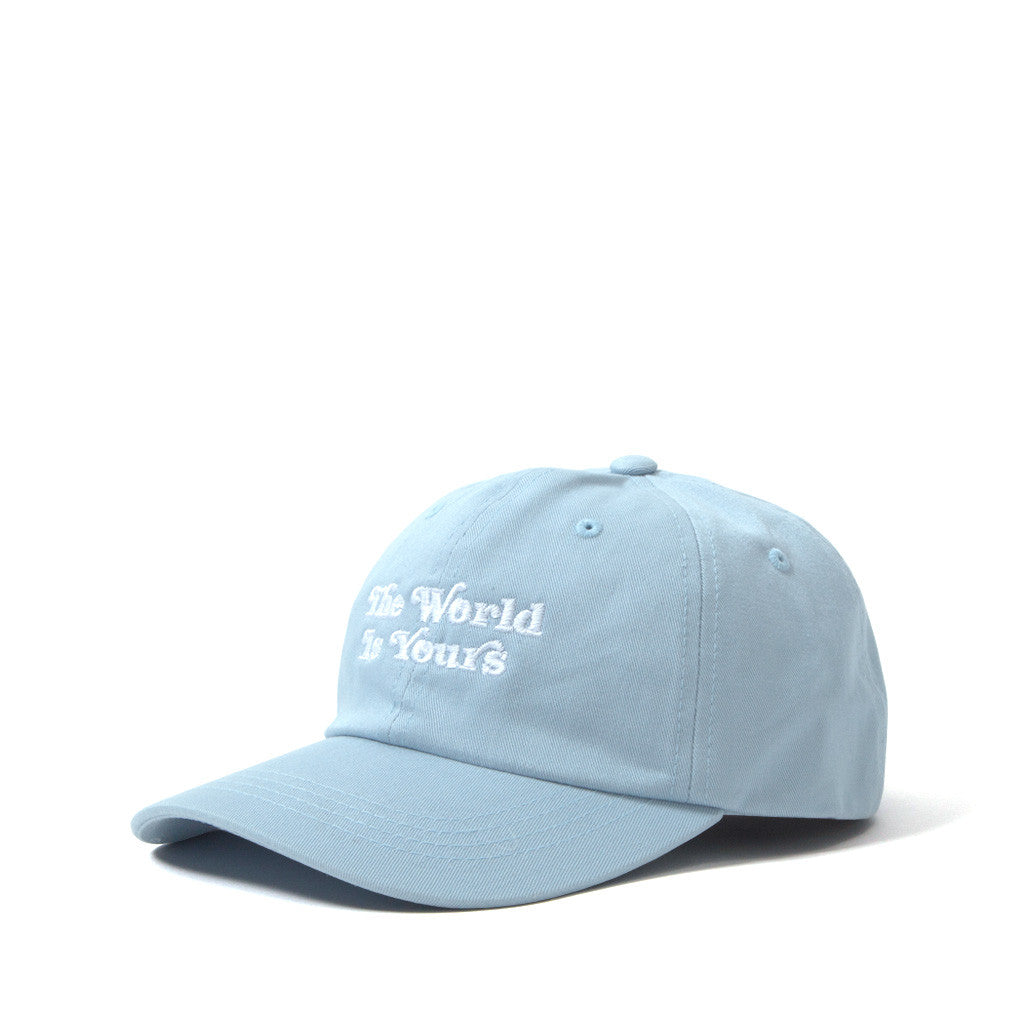 The World Is Yours 6 Panel Dad Cap - Light Blue