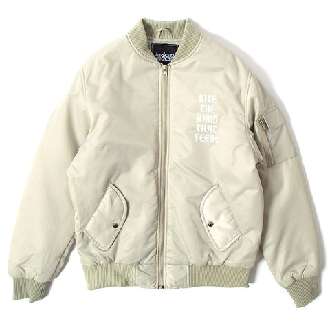 Bite The Hand Bomber Jacket - Stone