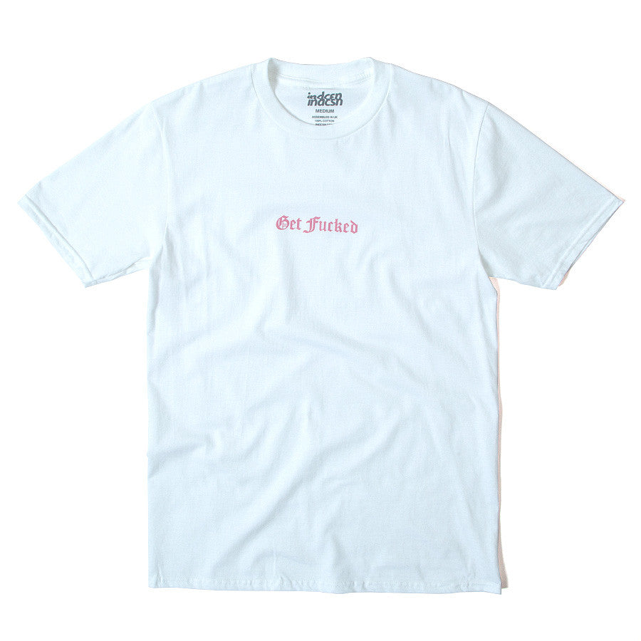 Get Fucked Tee - White/Pink