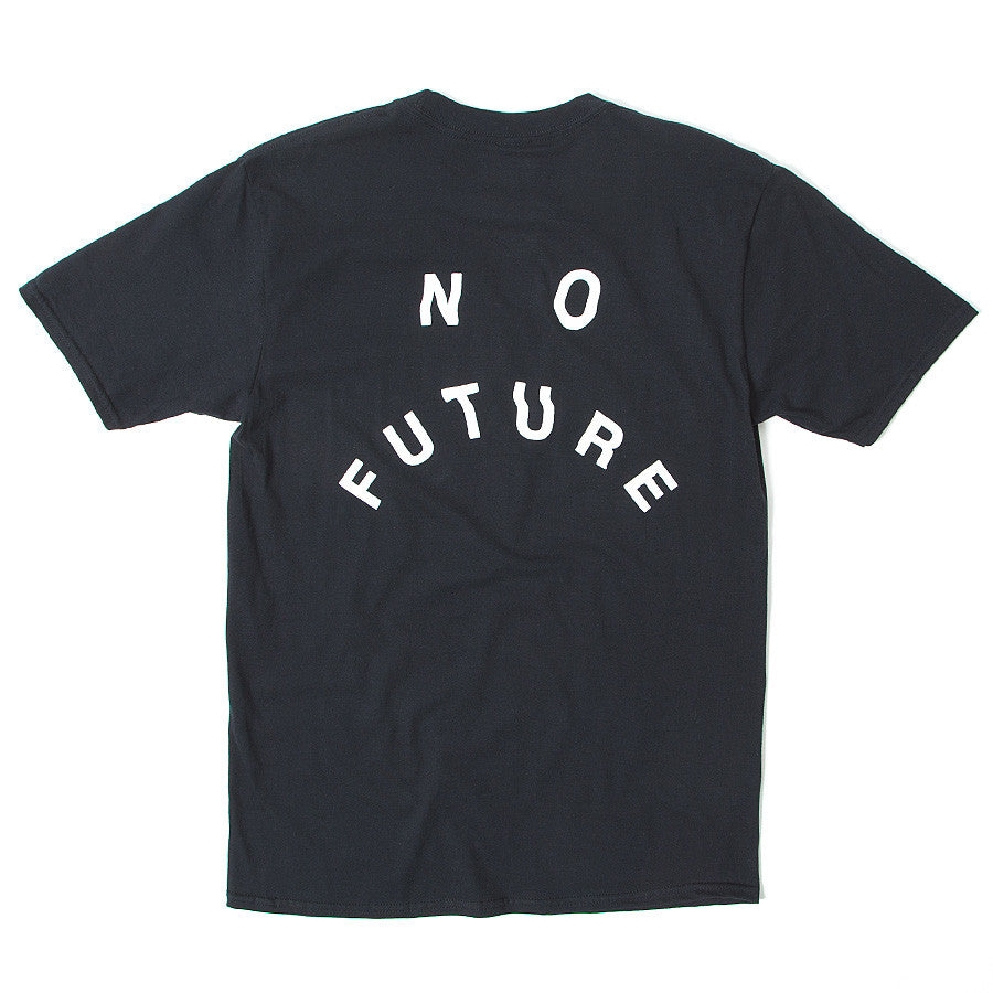 No Future Distort Tee - Black