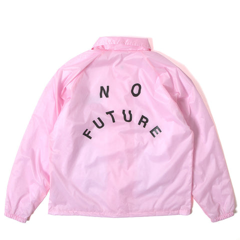 No Future Distort Coach Jacket - Pink