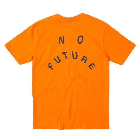 No Future Distort Tee - Orange