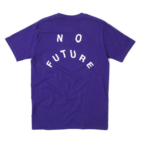 No Future Distort Tee - Purple