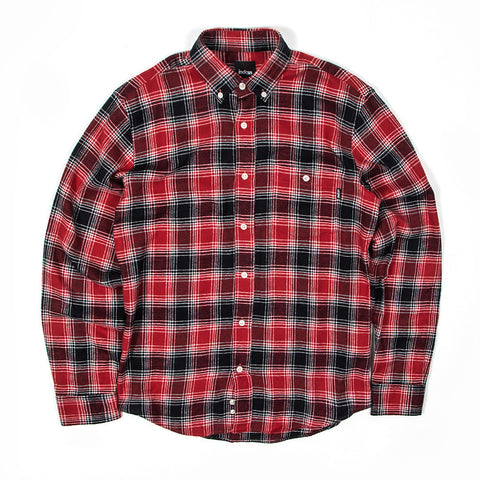 Northern Flannel Shirt - Red / Black / White