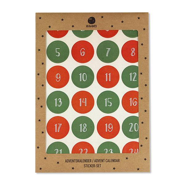 Adventskalender // Sticker Set grün rot
