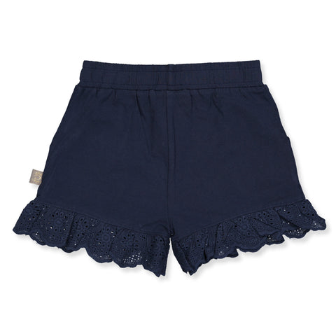 Shorts mit Spitzen navy // Lace