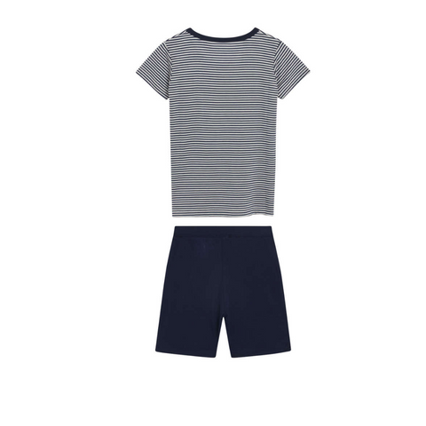 Fun Pyjamas Bambus  // Navy gestreift