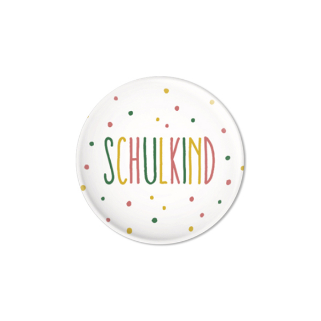 Button // Schulkind Konfetti rosa
