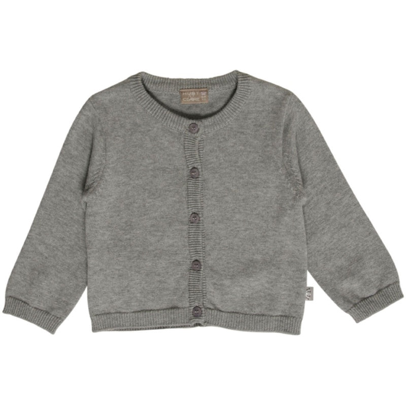 Strickjacke // grey melange