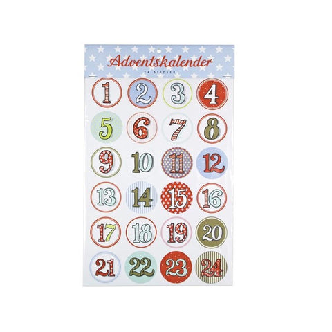 Adventskalender // Sticker Set bunt