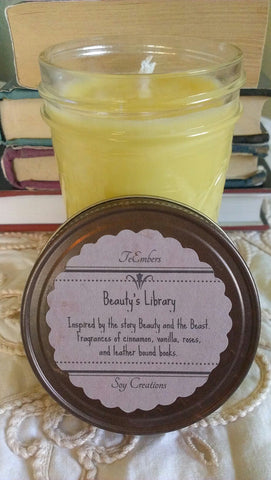Beauty's Library Scented 8oz Soy Candle