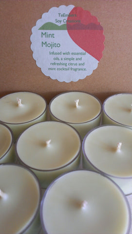 Mint Mojito Essential Oil Soy Tea Lights