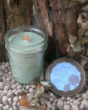 Mischieviously Scented 8oz Woodwick Soy Candle