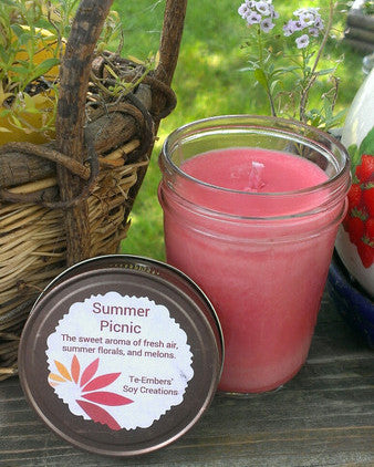 Summer Picnic Scented 8oz Soy Candle
