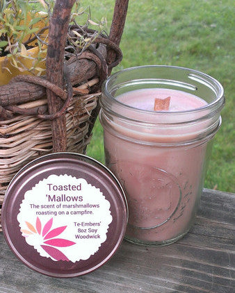 Toasted 'Mallows Scented 8oz Woodwick Soy Candle