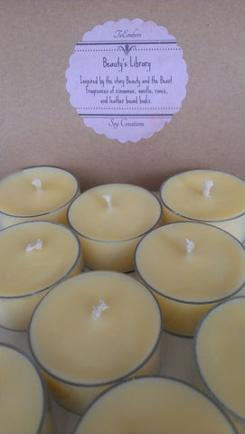 Beauty's Library Scented Soy Tea Lights