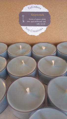 Shipwreck Scented Soy Tea Lights