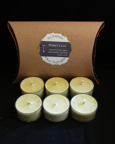 Pirate's Cove Scented Soy Tea Lights
