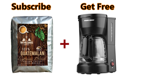 2-lbs Ground Dark Roast Espresso Blend Coffee + Coffee Maker: (Only on Subscribe & Save)
