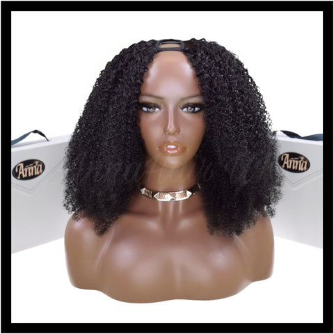 Customised Afro Curl U-Part Clip-In Unit