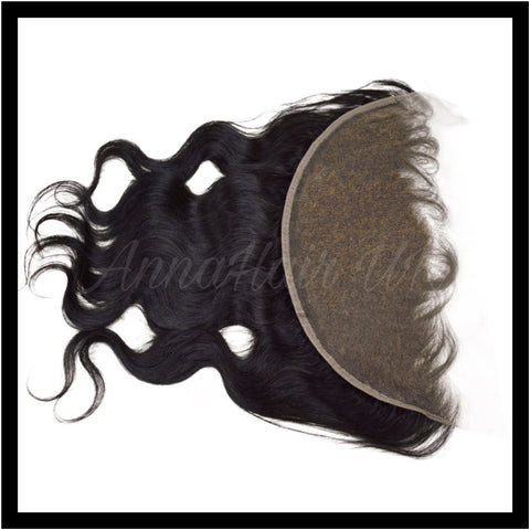 "13"" x 6"" Body Wave Transparent HD Lace Frontal with Bleached Knots"
