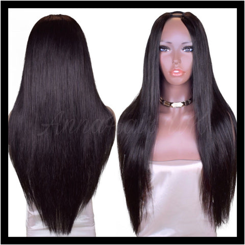 Customised Silky Straight U-Part Clip-In Unit