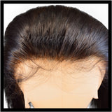 Silky Straight Transparent Lace Frontal with Bleached Knots