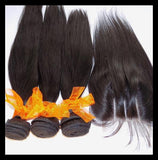3 x 100g Bundles & Lace Closure - Brazilian Virgin Human Hair Deal - annahair