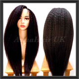 High Density Customised Kinky Straight Wig