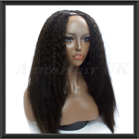 Customised Kinky Straight U-Part Unit - annahair
