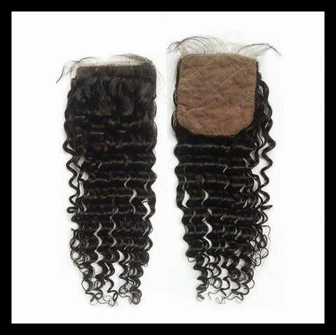 Brazilian Curly Silk Base Closures